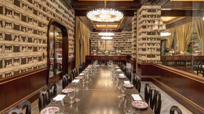 available for private events and buyouts carbone has two private dining rooms that can accommodate 20 people each or 40 as one - Private Dining Rooms Las Vegas