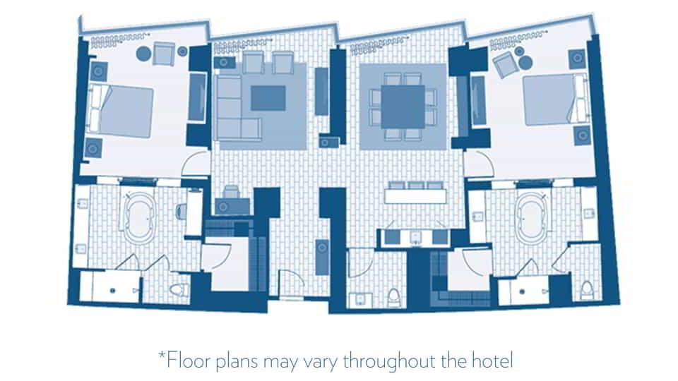 las vegas penthouse 2 bedroom suites vdara hotel spa aria. 2 Bedroom Suites Las Vegas Hilton  A Jetted Tub In The Master